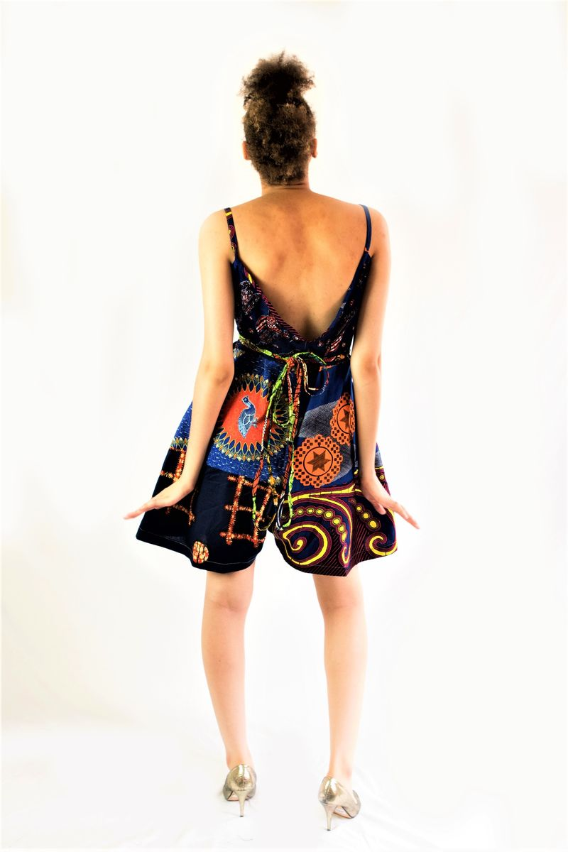 African Ankara playsuit pant dress - product images  of