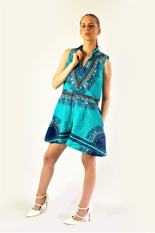 Angelina,African,Ankara,playsuit,pant,dress,african all in one, african playsuit, ankara playsuit, blue playsuit, playsuit, play suit, african play suit, ankara play suit, African pants, Ankara pants, African fashion, Harem, Hareem, Orange jumpsuit, orange African jumpsuit, red jumpsuit, Bandeau ju