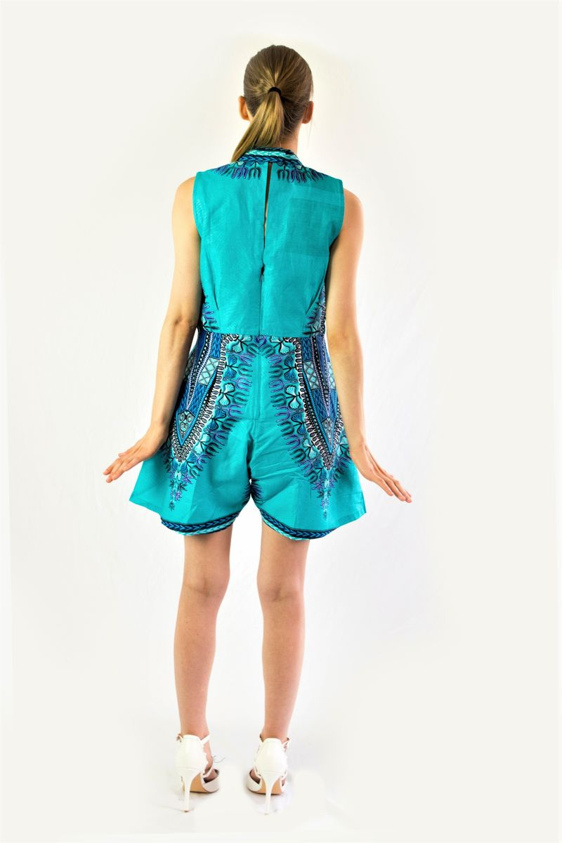Angelina African Ankara playsuit pant dress - product images  of