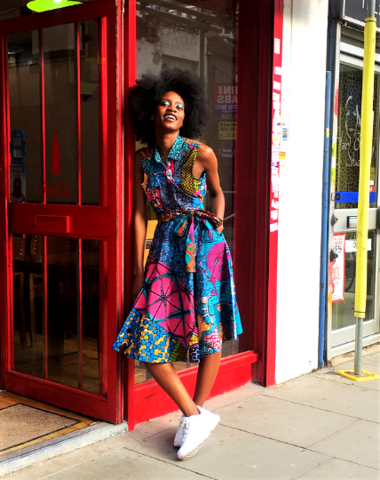 African,Ankara,Wrap,Dress,sosome, wrap dress, wrap dresses, ankara fashion, blue wrap dress, African wrap dress, ankara wrap dress, blue african wrap dress, office african wear, african fashion, womens ankara,
