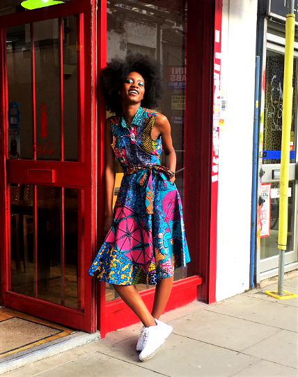 African Ankara Wrap Dress - product images  of