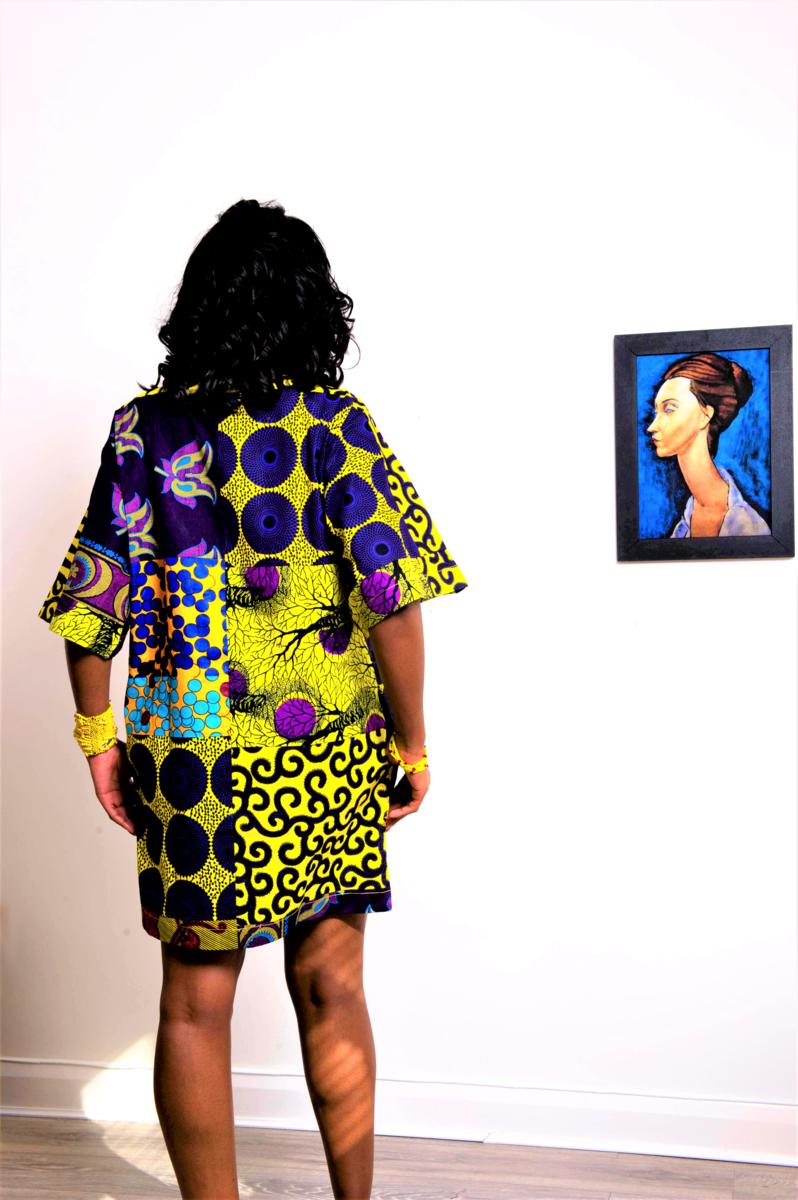 1a9ec032248 ... Carla Purple mix African print Ankara Tunic Dress - product images of