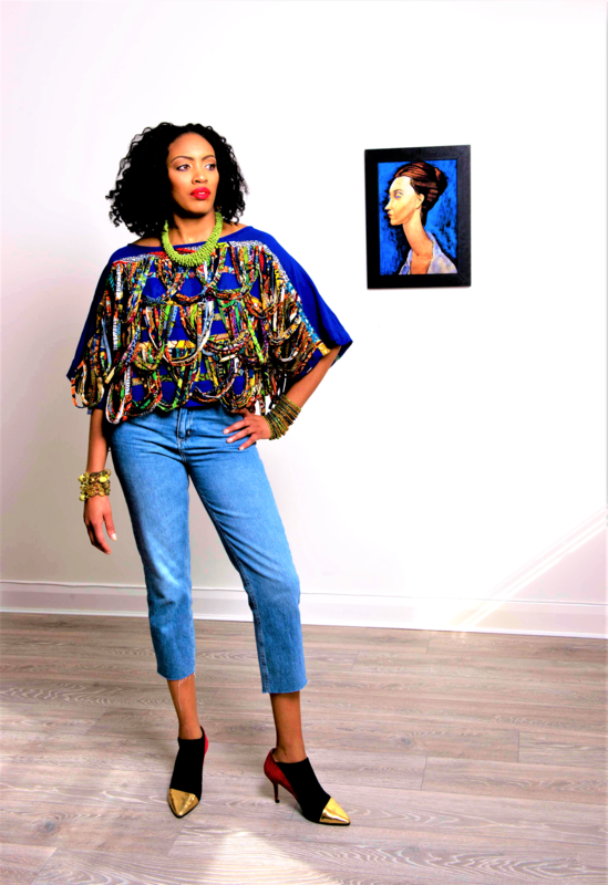 Riri Rope African print blouse - product images  of