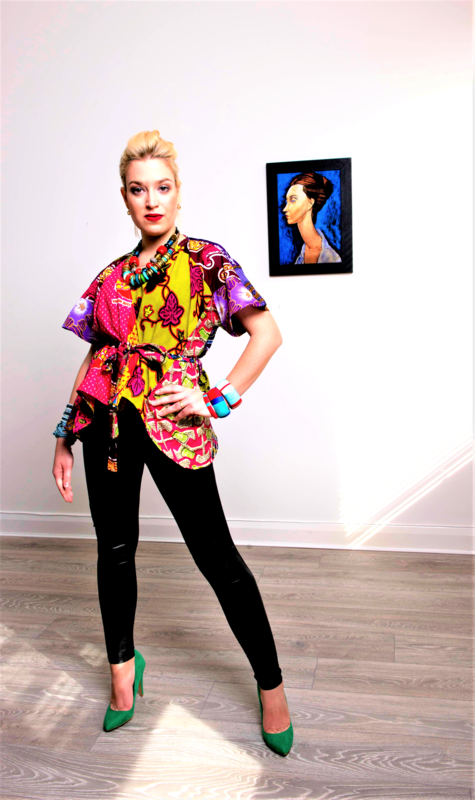 Ladi African print wrap top - product images  of