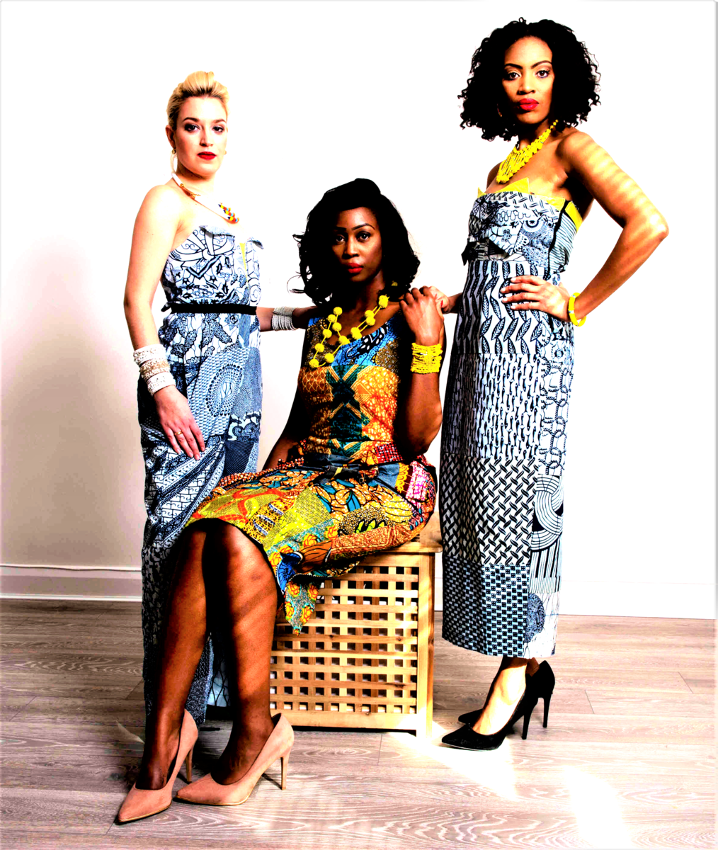 Jessica Gold Fitted Ankara Dress - product images  of