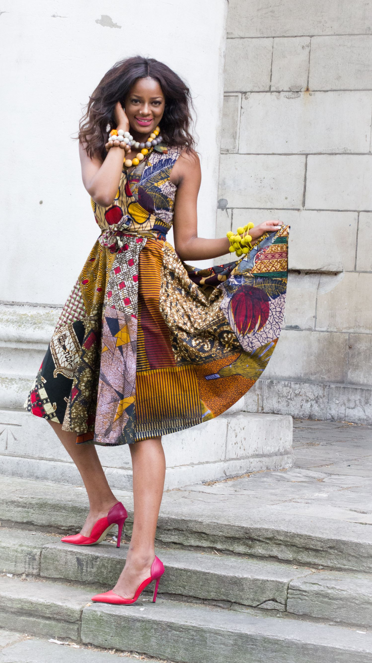 African ankara wrap dress