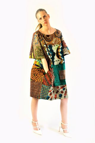 Original,mix,African,Ankara,Tunic,Dress, Dress, red, turquoise,African print dress, blue, embroidery, African tunic, Ankara tunic, blue African dress, blue short African dress, short African dress, African fashion, Ankara fashion dress
