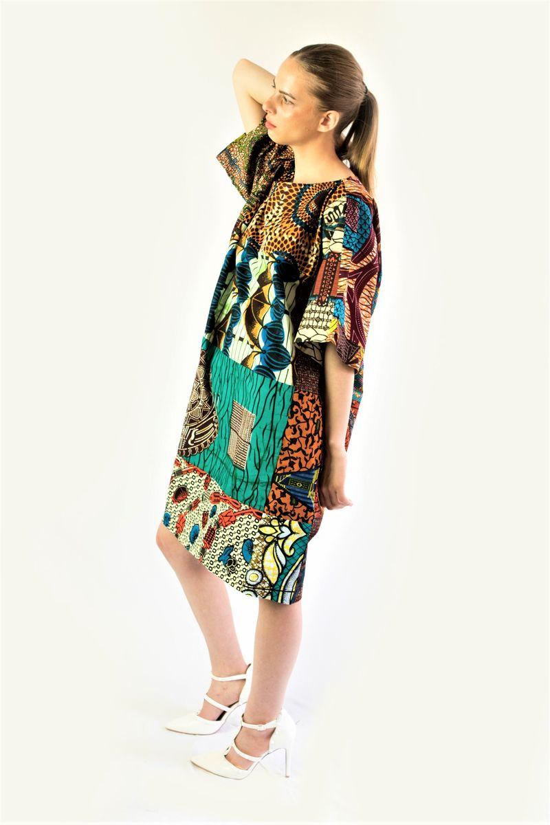 930dea7358b ... Original mix African Ankara Tunic Dress - product images of ...
