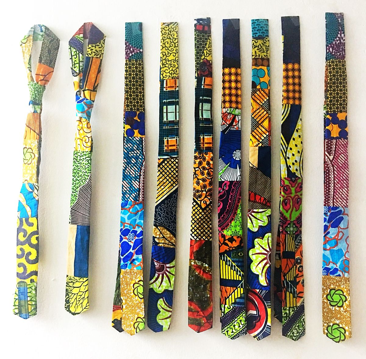 Mens African print neck tie  - product images  of