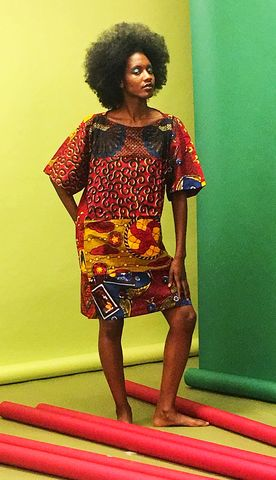 Carla,red,African,Ankara,Tunic,Dress, fashion, fashion dress, unic, dresses, Dress, shops, london, Hood, Hooded, Hoodie, blue, embroidery, African tunic, Ankara tunic, blue African dress, blue short African dress, short African dress, African fashion, Ankara fashion dress