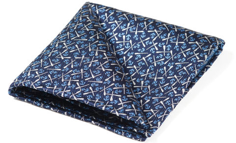 Walter,pocket square, anchors, oars, pocket square anchors, silk pocket square