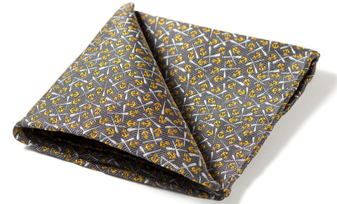 Drake,anchors and oars pocket square, sailor pocket square, anchors pocket square, silk pocket square, nautical pocket square, silk hanks, silk handkerchief