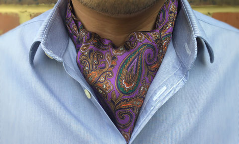 ROMAIN,paisley cravat, ascot tie, day cravat, cravat, silk cravat, gentlemen's cravat, gentlemen's ascots, men's cravat, wedding cravat, ascots, cravats, mens cravats, formal cravat, silk ascot tie, ascot ties, ascottie, men's ascots, silk cravats, crava