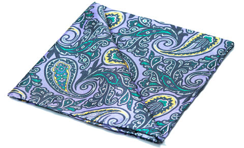 Tiberius,pocket square, pocket squares online, pocket square uk, silk pocket square, pocket square, mens silk pocket square, printed silk pocket square, mens hank, handkerchief, silk handkerchief, purple paisley pocket square, silk paisley pock