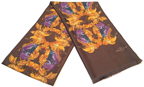The,Huntsman,silk scarves, silk scarf for men, mens silk scarf,