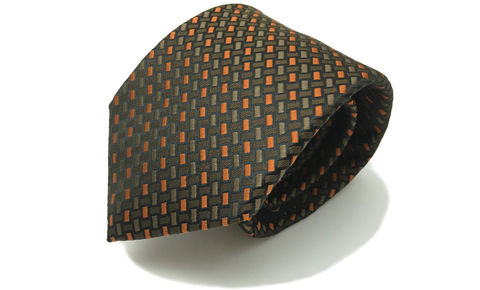 ELIAS,orange brown silk tie, brown silk necktie, woven silk brown necktie, brown orange woven silk necktie, orange silk tie, brown silk tie