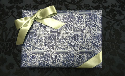 Blue,Wrap,&,Olive,Ribbon