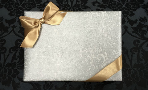 White,Wrap,&,Gold,Ribbon