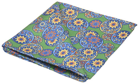 Zian,green silk pocket square, chinese pattern pocket square, oriental pattern pocket square, silk pocket squares for men, silk squares online, silk pocket square online, silk handkerchief online
