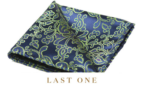 Ares,pocket squares, pocket squares online, pocket square uk, silk pocket square, green silk pocket square, green floral pocket square, green flowers pocket square, green silk hank, british made silk hank, british made silk pocket square