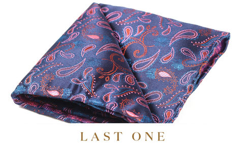 Haik,pocket square, wedding pocket square, silk pocket square, british pocket square, cravat club pocket square, cravats and pocket squares, silk handkerchief, paisley hank, paisley pocket square