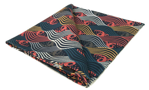 Yamato,japanese pocket square, japan pocket square, silk squares for men, silk pocket square, blue white pink pocket square, silk handkerchief, mens silk pocket square, silk handkerchiefs for men, silk accessories for men, pocket squares online