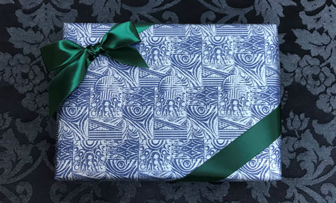 Blue,Wrap,&,Green,Ribbon