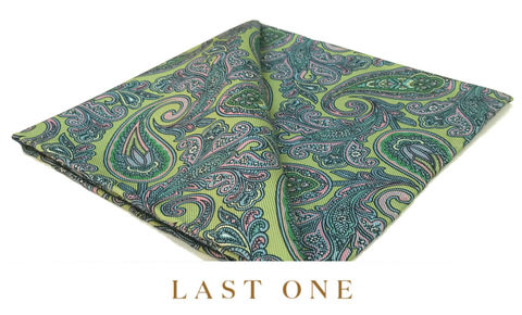 Brody,green pocket square, silk green pocket square, paisley pocket square, silk pocket square, lime green pocket square, mens pocket squares, silk squares for men, silk handkerchiefs for men, pocket squares online
