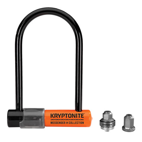 Kryptonite,Messenger,Mini,D-Lock,with,WheelNutz,kryptonite locks, kryptonite messenger mini d lock, kryptonite locks in london, good bike locks
