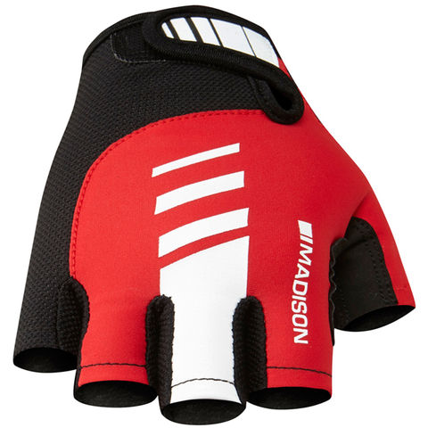 Madison,Peloton,Men's,Mitts,Red,fingerless cycling gloves, madison cycling gloves, peloton gloves
