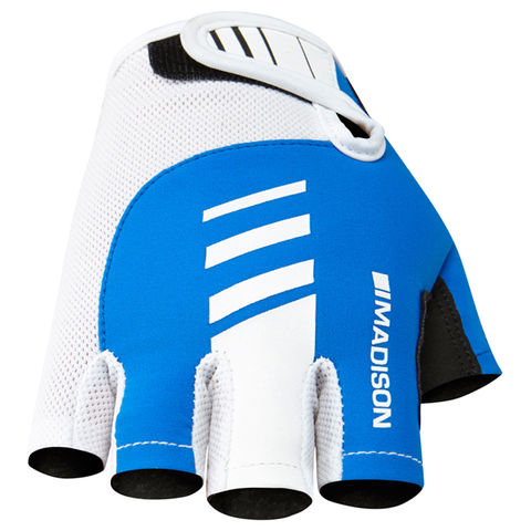Madison,Peloton,Men's,Mitts,Blue,fingerless cycling gloves, madison cycling gloves, peloton gloves