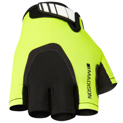 Madison,Sportive,Men's,Mitts,Yellow,fingerless cycling gloves, madison cycling gloves, sportive gloves