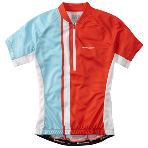 Madison,Tour,Women's,Jersey,Chilli,Red/Sea,Blue,womens cycling jersey, Madison Tour Women's Jersey Pink/Black, buy madison cycle clothing london