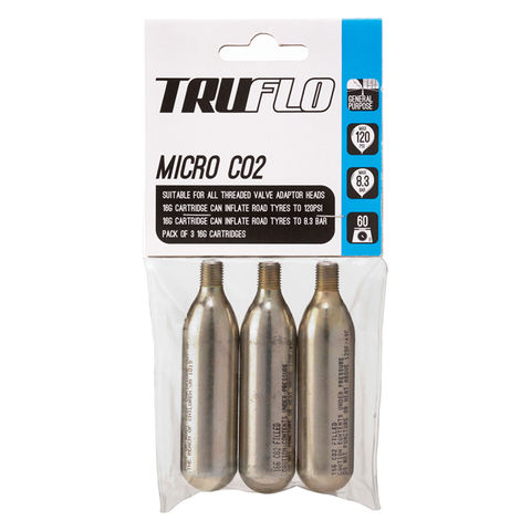 Truflo,Micro,CO2,Refill,Pack,(3,x,Cartridges),Truflo Micro CO2 Refill Pack (3 x Cartridges)