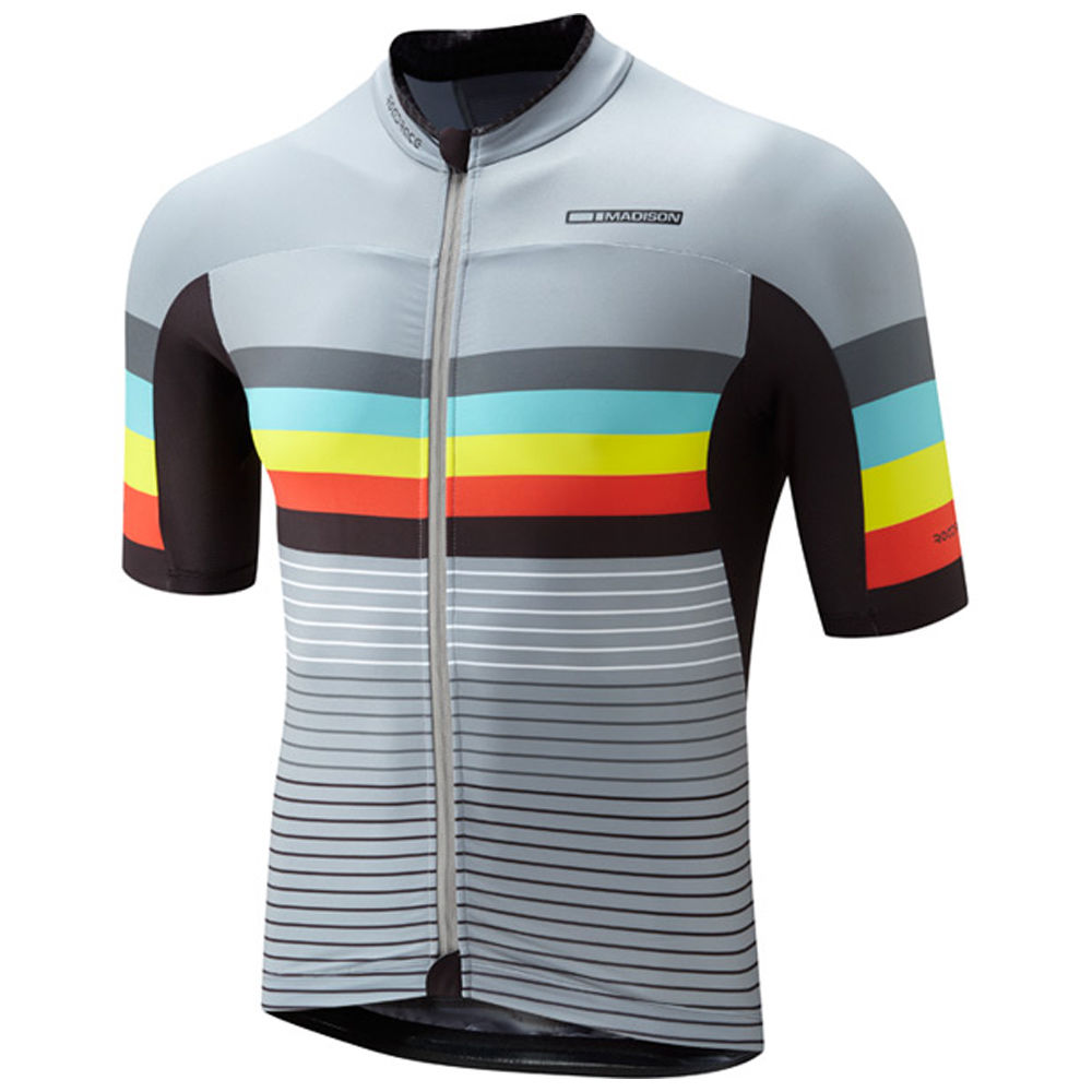 Madison Premio Men's Jersey Cloud Grey Stripes - product images  of