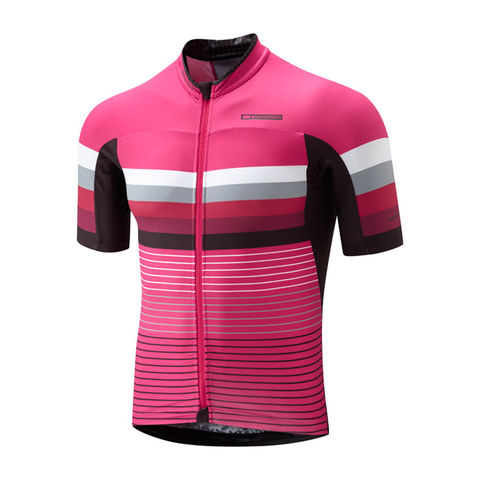 Madison,Premio,Men's,Jersey,Fuchsia,Stripes,Madison Premio Men's Jersey Fuchsia Stripes