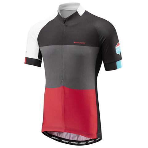 Madison,Sportive,Men's,Jersey,Red,Blocks,Madison Sportive Men's Jersey Red Blocks