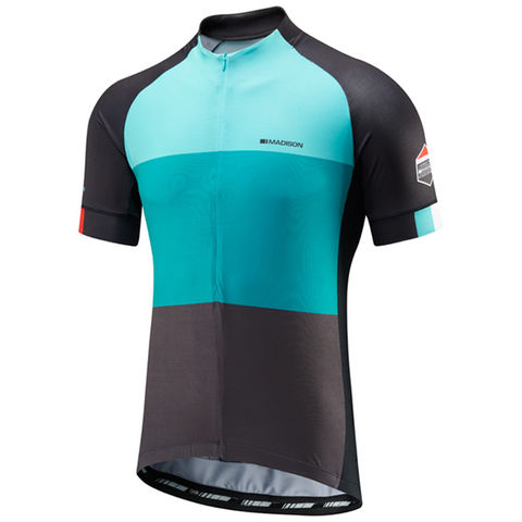 Madison,Sportive,Men's,Jersey,Blue,Blocks,Madison Sportive Men's Jersey Blue Blocks