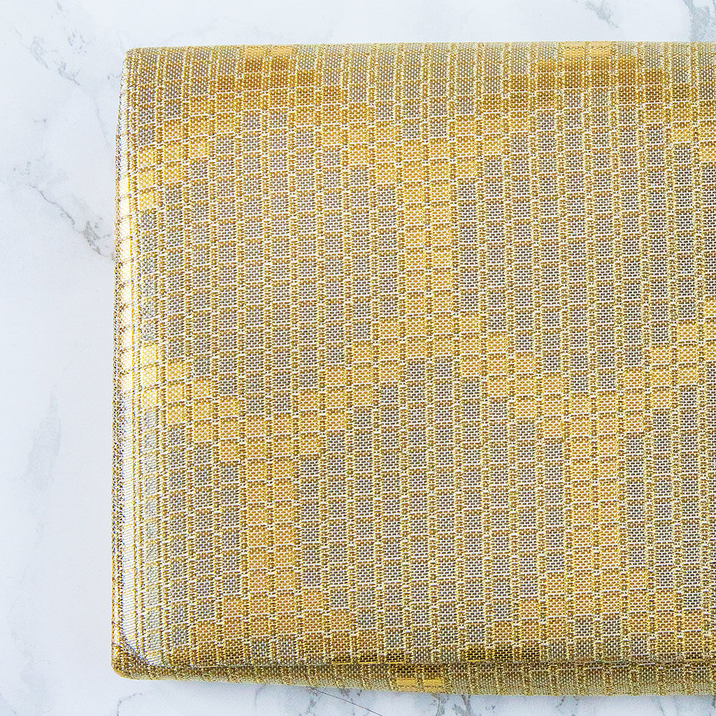 Metallic Wedding Clutch -Gold Geometric Evening Bag - product images  of