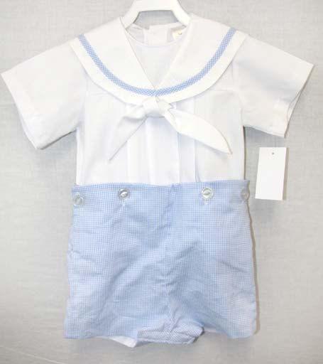 43d4f2e0c Baby Boy Sailor Outfit, Nautical Baby Boy Clothes, Baby Sailor Suitt 292164  - Zuli Kids Clothing