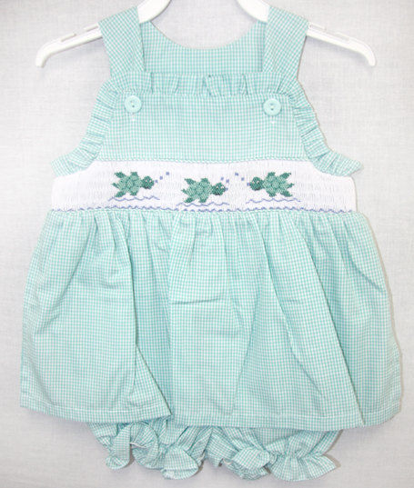 038401bdd1 Smocked Clothes, Smocked Baby Girl Clothes, Baby Sunsuit 412359-I122 -  product images