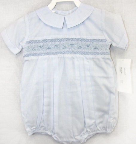 Baby Boy Smocked Romper | Smocked Baby Boy Clothes | Smocked Baby Boy 412321-J035 - product images  of