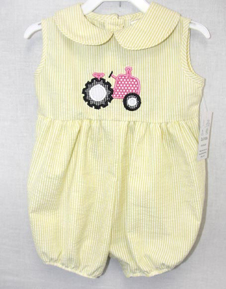 Baby Girl Onesies Baby Bubble Romper Tractor Birthday