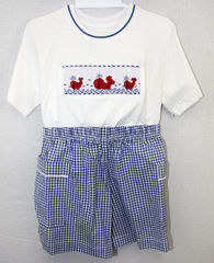 Toddler,Boys,Shorts,Set,,Boy,Smocked,Clothing,,Beach,Outfits,412068,A063,Clothes for Kids, Little Me, Baby Boy Clothes - Toddler Clothes - Shorts Set - Playsuit - Play Suit - Kids Tee Shirt - Back to School Clothes - Boy Clothes