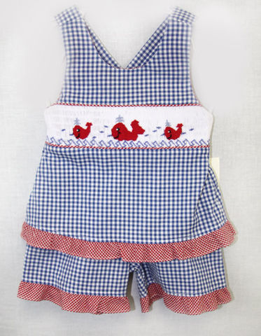 Summer,Clothes,,Smocked,Baby,Kids,Clothes,412072,A067, Summer Clothes, Kids Summer Clothes, Baby Summer Clothes, Ruffled Shorts - Ruffled Sunsuit - Matching Sister - Matching Siblings - Siblings Outfits