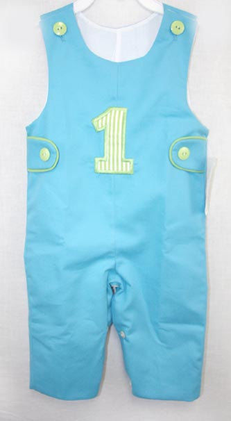 First Birthday Outfits, Baby Boy Shortalls, Baby Boy First Birthday Outfit, 292103 - product images  of
