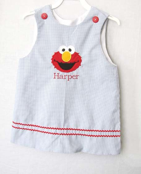 Elmo Birthday Dress, Elmo 1st Birthday Outfit, Zuli Kids 292443 - product images  of