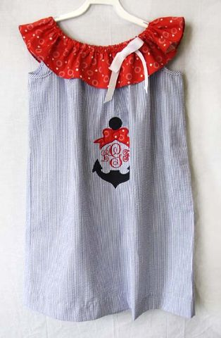 Baby,Girl,Sailor,Outfit,|,Dress,292424,Baby Girl Sailor Outfit - Baby Girl Clothes - Little Girl Nautical Birthday- Toddler Sailor Dress Matching Sister Brother Clothing