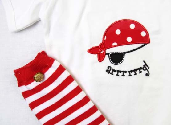 Baby Boy Pirate Outfit | Pirate Birthday Outfit |Zuli Kids Clothing 292505 - product images  of