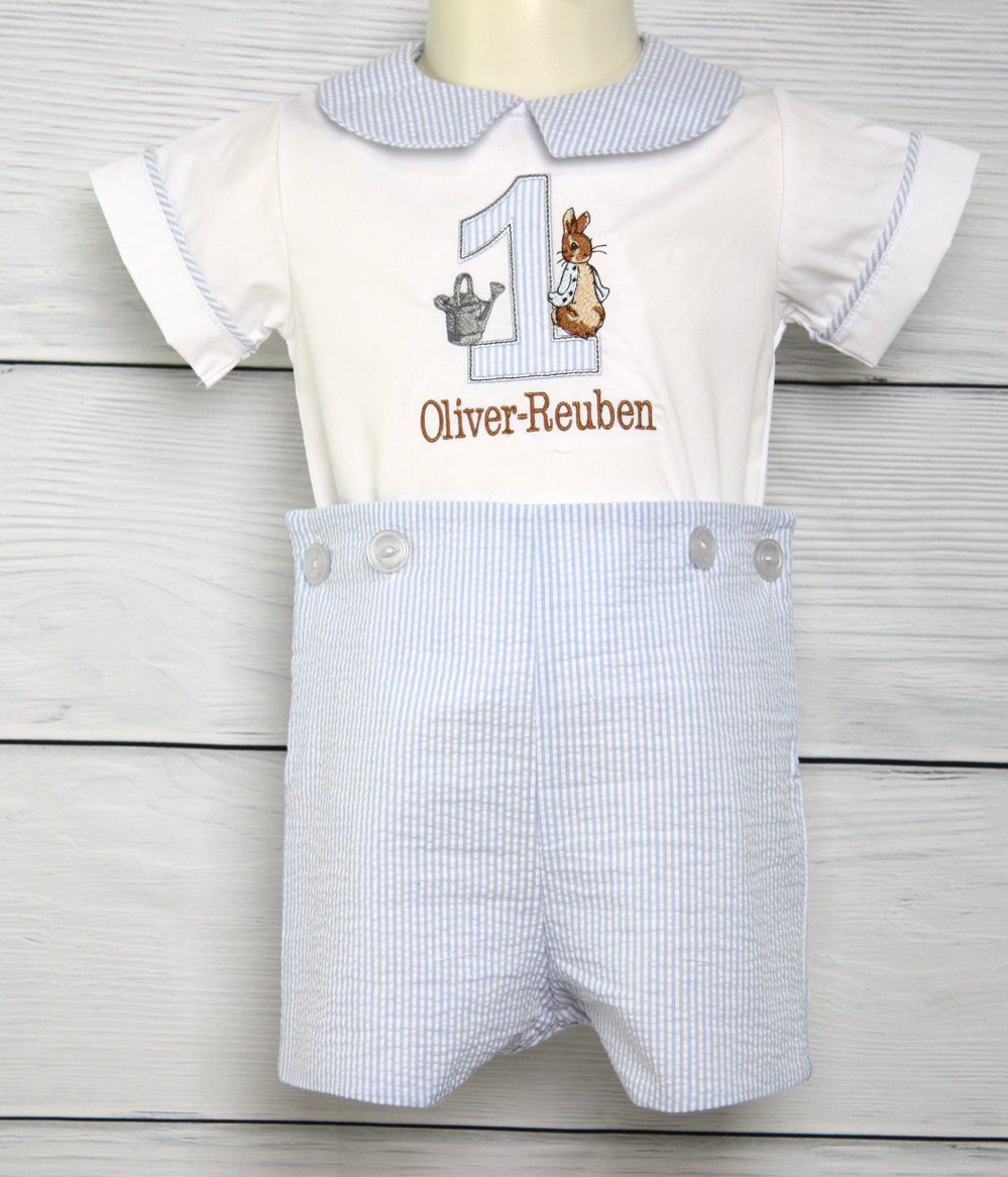 a4f445938 Baby Boy First Birthday Outfits, Peter Rabbit Birthday Outfit, Peter Rabbit  Birthday Romper 293708